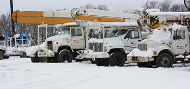 Northeast Texas Power crews work in all weather including snow