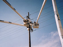 Northeast Texas Power crew working on lines